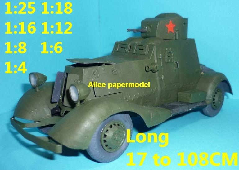 1:25 1:16 1:12 1:8 1:6 1:4 scale WWII World War II WW2 USSR Soviet Union Russia red army FAI FAI-m Ford Ford-A Izhorskiy tank armored armoured car half track half-track SAM missle launcher launches artillery truck MBT main battle jeep armored vehicle vehicles military army train big large scale size car model models soldier soldiers scene for on sale shop