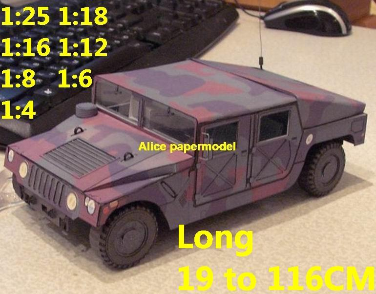 1:25 1:18 1:16 1:12 1:8 1:6 1:4 scale USA US United States army M998 Hummer  H1 H2 H3 Willys MB jeep jeeps four wheel drive utility vehicle tank