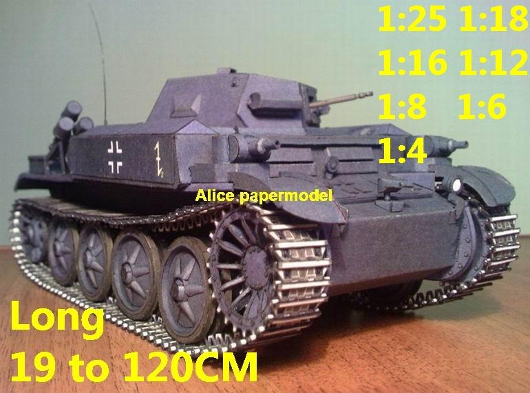 1:25 1:18 1:16 1:12 1:8 1:6 1:4 scale WWII World War II WW2 Germany German Flammpanzer Panzerkampfwagen II Flamm tank destroyer artillery truck MBT main battle jeep armored vehicle vehicles military army train big large scale size car model models soldier soldiers scene on for sale shop store