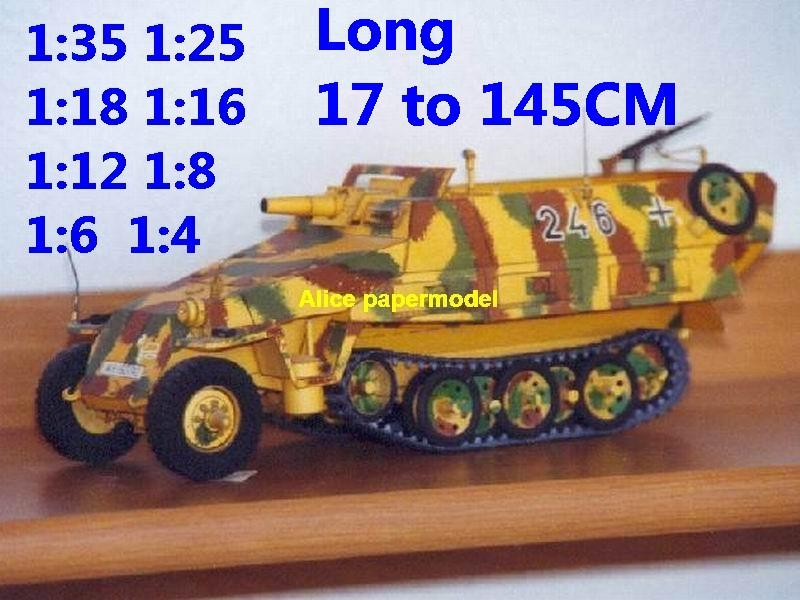 1:35 1:25 1:18 1:16 1:12 1:8 1:6 1:4 scale WWII World War II WW2 German Germany Sdkfz 251 Hanomag half-track half track tank missle launcher artillery truck MBT main battle jeep armored vehicle vehicles military army train big large scale size car model models soldier soldiers scene for on sale store shop