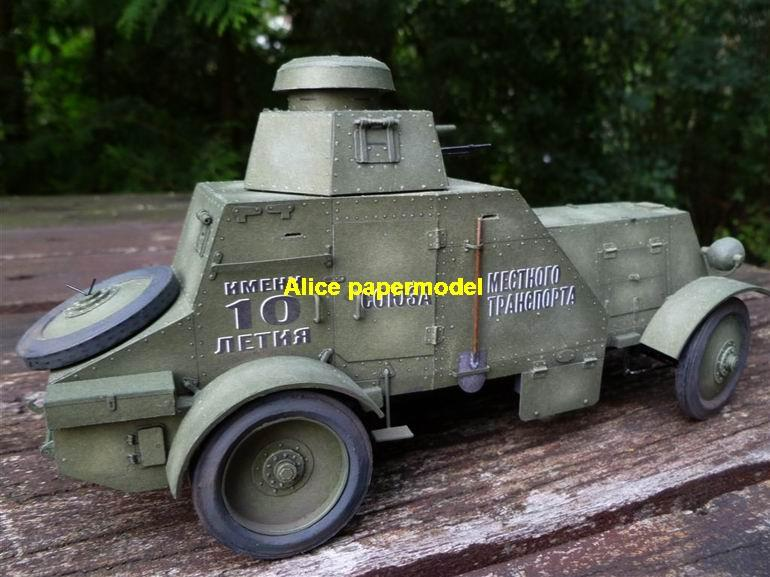 1:25 1:18 1:16 1:12 1:8 1:6 1:4 scale WWII World War II WW2 USSR Soviet Union Russia BA-27 BA27 armoured car Tank half track half-track SAM missle launcher launches artillery truck MBT main battle jeep armored vehicle vehicles military army train big large scale size car model models soldier soldiers scene on for shop sale