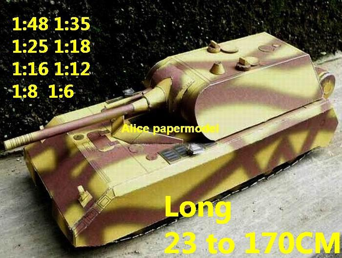 1:48 1:35 1:25 1:18 1:16 1:12 1:8 1:6 1:4 scale WWII World War II Panzerkampfwagen VIII Maus Mouse super heavy tank rocket missle launcher launches artillery truck MBT main battle jeep armored vehicle vehicles military army train big large scale size car model models soldier soldiers scene for on sale shop store