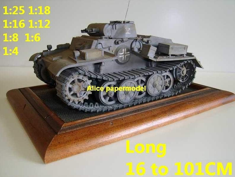 1:35 1:25 1:18 1:16 1:12 1:8 1:6 1:4 scale WWII World War II German Germany Panzer I Pz.Kpfw.I PzKpfw I Ausf F super heavy tank rocket missle launcher launches artillery truck MBT main battle jeep armored vehicle vehicles military army train big large scale size car model models soldier soldiers scene for on sale shop store