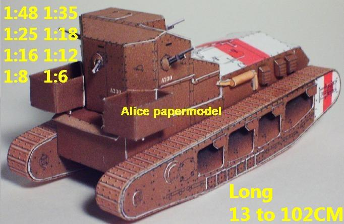 1:48 1:35 1:25 1:18 1:16 1:12 1:8 1:6 scale World War I WWI UK United Kingdom army Medium Mark A Whippet armoured vehicle Fighting vehicle armored vehicles MBT main battle tank modern self propelled howitzer cannon military truck jeeps jeep armoured car SAM missle launcher launches artillery military train big large scale size car model models soldier soldiers scene for on sale shop store