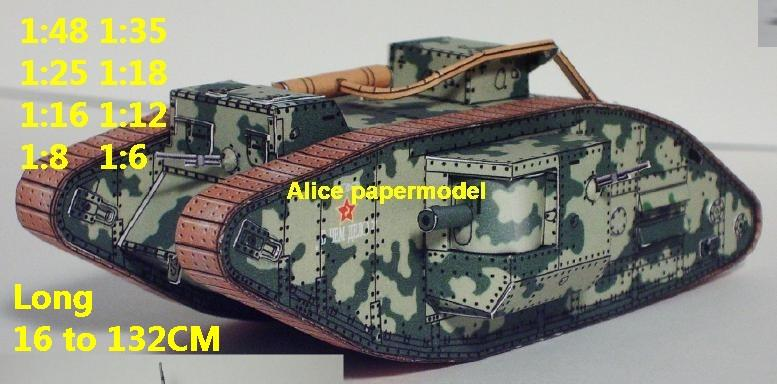 1:48 1:35 1:25 1:18 1:16 1:12 1:8 1:6 scale World War I WWI United Kingdom UK army Mark MK V Mark Five Male armoured vehicle Fighting vehicle armored vehicles MBT main battle tank modern self propelled howitzer cannon military truck jeeps jeep armoured car SAM missle launcher launches artillery military train big large scale size car model models soldier soldiers scene for on sale shop store
