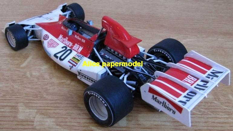 1:24 1:18 1:16 1:12 1:8 1:6 1:4 1:3 1:2 scale 1973 British Racing Motors BRM P160 team FIA Grands Prix Formula one 1 F1 F-1 Ferrari Mercedes Renault Honda racing papercraft sport vintage classic old car sedan big large scale size car model models on for sale shop store papercraft