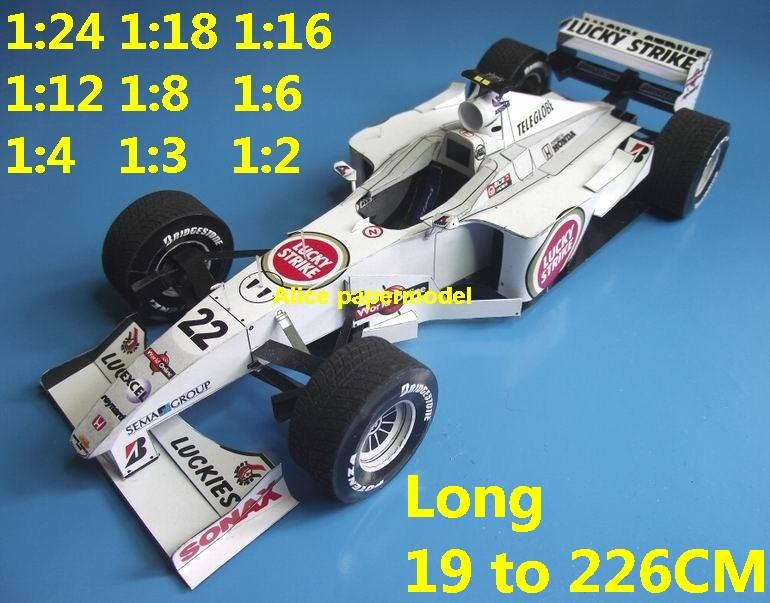 1:24 1:18 1:16 1:12 1:8 1:6 1:4 1:3 1:2 scale 2000 British American Japan Honda BAR 002 BAR-002 BAR002 team FIA Grands Prix Formula one 1 F1 F-1 Ferrari Mercedes Renault Honda racing sport vintage classic old car sedan big large scale size car papercraft model models on for sale shop store