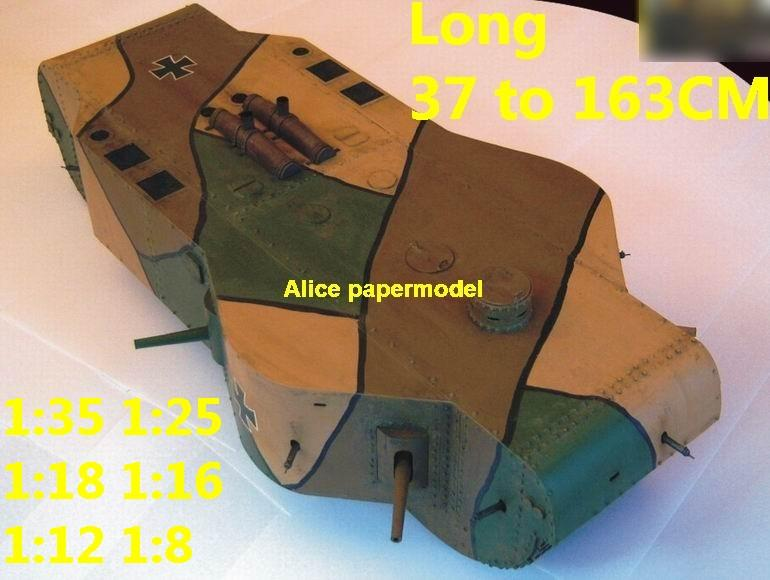 1:35 1:25 1:18 1:16 1:12 1:8 1:6 scale WWI World War I German Germany army K-Wagen K Wagen super heavy armoured vehicle Fighting vehicle armored vehicles MBT main battle tank modern self propelled howitzer cannon military truck jeeps jeep armoured car SAM missle launcher launches artillery military train big large scale size car model models soldier soldiers scene for on sale store shop