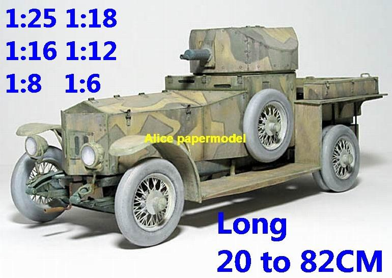1:25 1:18 1:16 1:12 1:8 1:6 scale World War I WWI UK United Kingdom army Rolls Royce MKI MKI armoured Fighting vehicle armored vehicles MBT main battle tank modern self propelled howitzer cannon military truck jeeps jeep armoured car SAM missle launcher launches artillery military train big large scale size car model models soldier soldiers scene for on sale store
