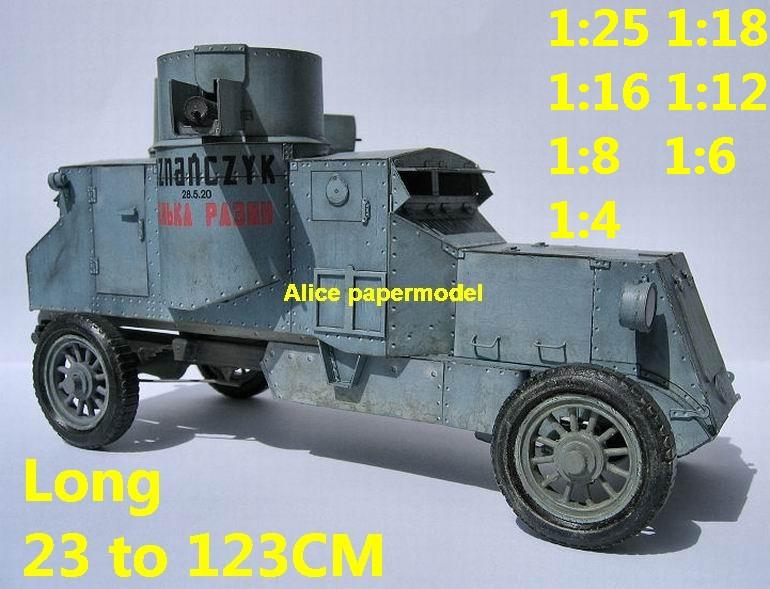 1:25 1:18 1:16 1:12 1:8 1:6 1:4 scale World War I WWI United Kingdom UK army Austin Putilow armoured Fighting vehicle armored vehicles MBT main battle tank modern self propelled howitzer cannon military truck jeeps jeep armoured car SAM missle launcher launches artillery military train big large scale size car model models soldier soldiers scene for on sale store shop