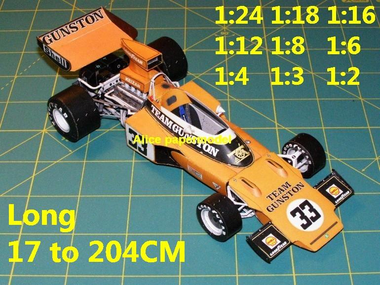 1:24 1:18 1:16 1:12 1:8 1:6 1:4 1:3 1:2 scale 1972 Lotus 72 Racing team FIA Grands Prix Formula one 1 F1 F-1 Ferrari Mercedes Renault Honda racing papercraft sport vintage classic old car sedan big large scale size car models model on for sale shop store