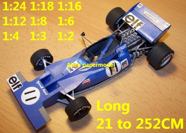 1973 Tyrrel Ford 003 Tyrrel-003 car GP team FIA Grands Prix Formula one 1 F1 F-1 racing papercraft sport vintage classic old car sedan big large scale size car model models on for sale shop store