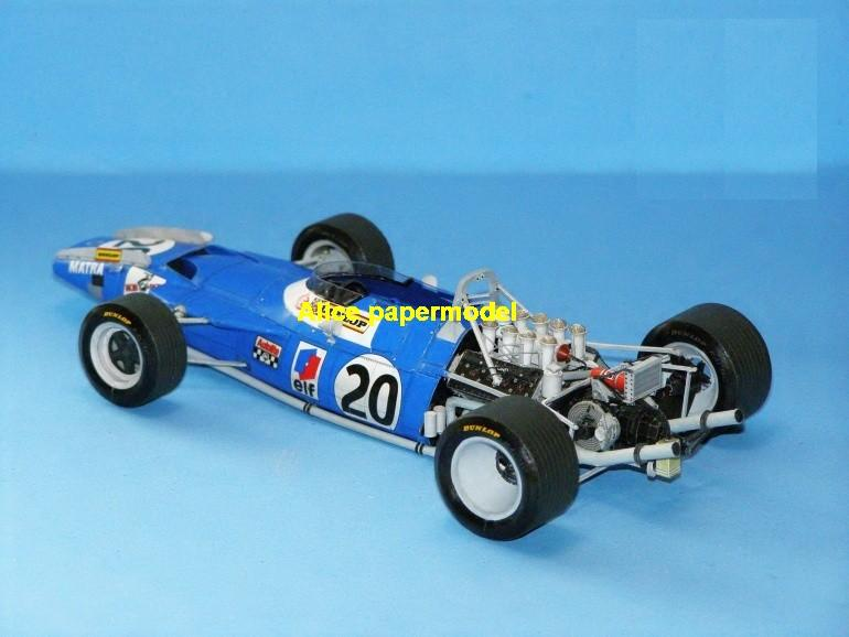 Matra MS80 team FIA Grands Prix Formula one 1 F1 F-1 racing papercraft sport vintage classic old car sedan big large scale size car model models on for sale shop store