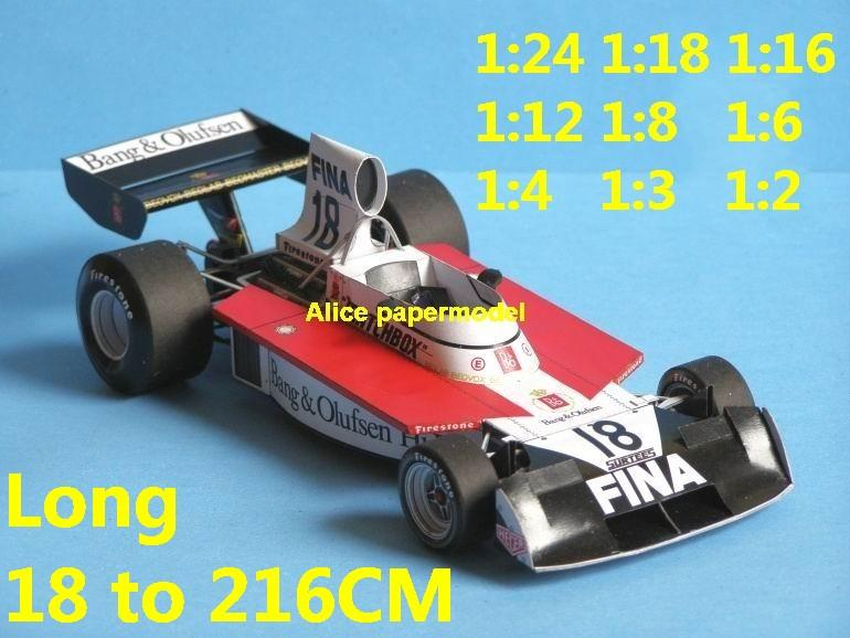 1975 Surtees TS16 TS-16 Ford Dutch GP team FIA Grands Prix Formula one 1 F1 F-1 racing papercraft sport vintage classic old car sedan big large scale size car models model on for sale store shop