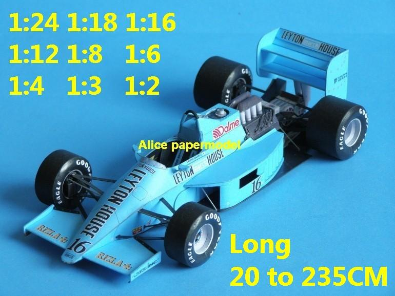 March 871 team FIA Grands Prix Formula one 1 F1 F-1 racing papercraft sport vintage classic old car sedan big large scale size car models model on for sale shop store