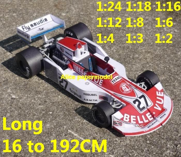 1:24 1:18 1:16 1:12 1:8 1:6 1:4 1:3 1:2 scale 1976 March 761 761B Dutch GP team FIA Grands Prix Formula one 1 F1 F-1 Ferrari Mercedes Renault Honda racing papercraft sport vintage classic old car sedan big large scale size car model models on for sale shop store