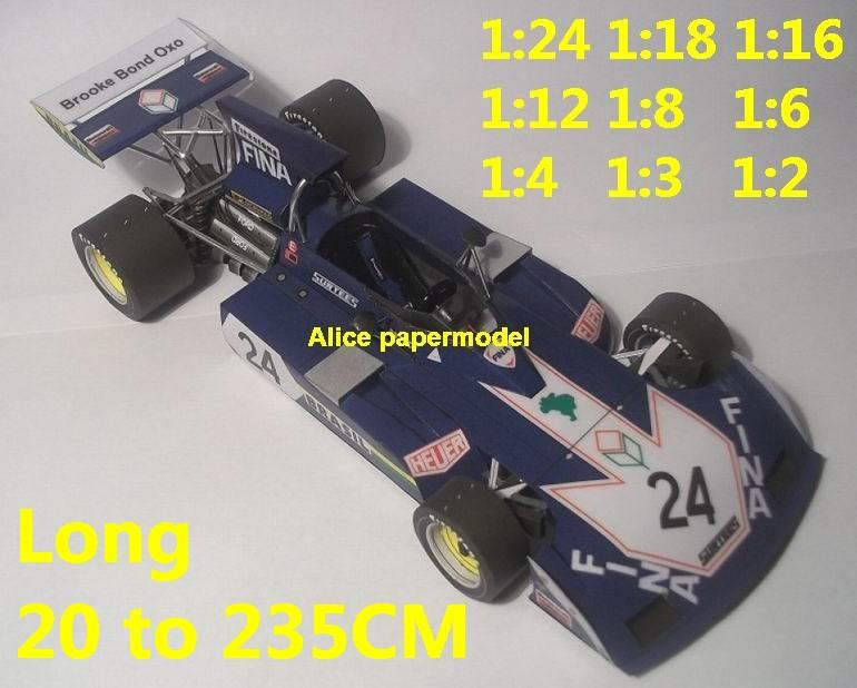 Surtees TS-14 TS14A TS14 GP team FIA Grands Prix Formula one 1 F1 F-1 racing papercraft sport vintage classic old car sedan big large scale size car models model on for sale store shop