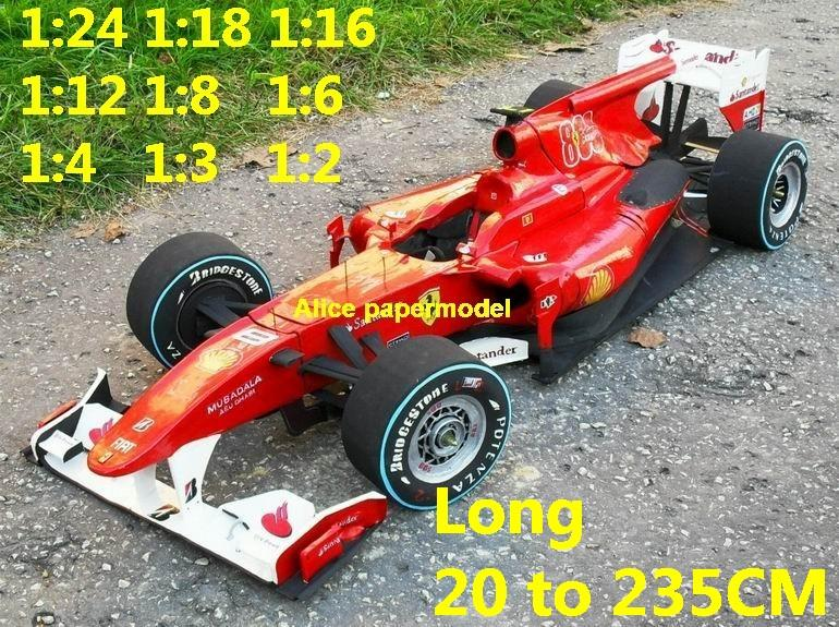1:24 1:18 1:16 1:12 1:8 1:6 1:4 1:3 1:2 scale 2010 Ferrari F-2010 F2010 F10 team FIA Grands Prix Formula one 1 F1 F-1 Ferrari Mercedes Renault Honda racing papercraft sport vintage classic old car sedan big large scale size car models model for on sale shop store