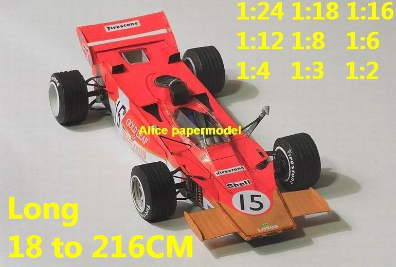 1:24 1:18 1:16 1:12 1:8 1:6 1:4 1:3 1:2 scale 1971 Lotus 56 56B GP team FIA Grands Prix Formula one 1 F1 F-1 Ferrari Mercedes Renault Honda racing papercraft sport vintage classic old car sedan big large scale size car models model on for sale store shop