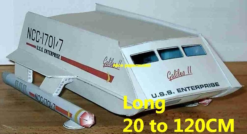 Startrek Galileo II shuttle USS NCC 1701 NCC1701 enterprise aircraft Star Trek starwar starship big large scale size universe cosmos alien spaceship fighter spacecraft space battleship cruiser station UFO Science fiction SCFI models model papercraft on for sale shop store