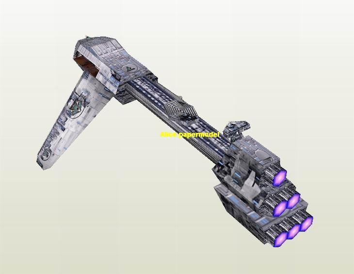 Starwar mod frigate jedi starfighter aircraft Startrek starwars star war starship starcraft big large scale size universe cosmos alien spaceship fighter spacecraft space battleship cruiser station UFO Science fiction SCFI model models papercraft on for sale shop store