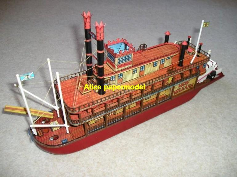 US CSS New Orleans Mississippi River steamboat steamship yacht big large scale size ship sailing boat paper Military army Soldiers Barbie doll models model cargo container tanker bulk freighter passenger liner cruise cruiser tugboat Ferry Sailboat Military army Soldiers Barbie doll model scene papercraft on for sale shop store