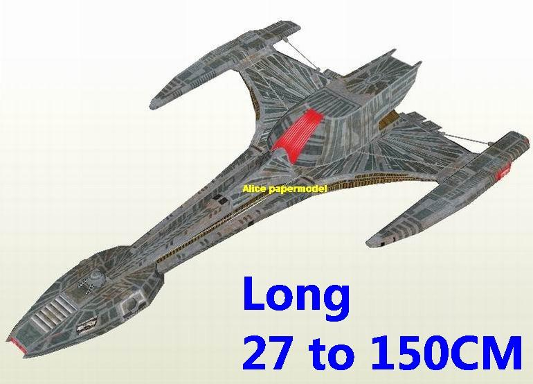 Startrek Klingon ENT Raptor base USS NCC1701 NCC-1701 enterprise aircraft Star Trek starwar star war starship starcraft big large scale size universe cosmos alien spaceship fighter spacecraft space battleship cruiser station UFO Science fiction SCFI models model papercraft on for sale shop store