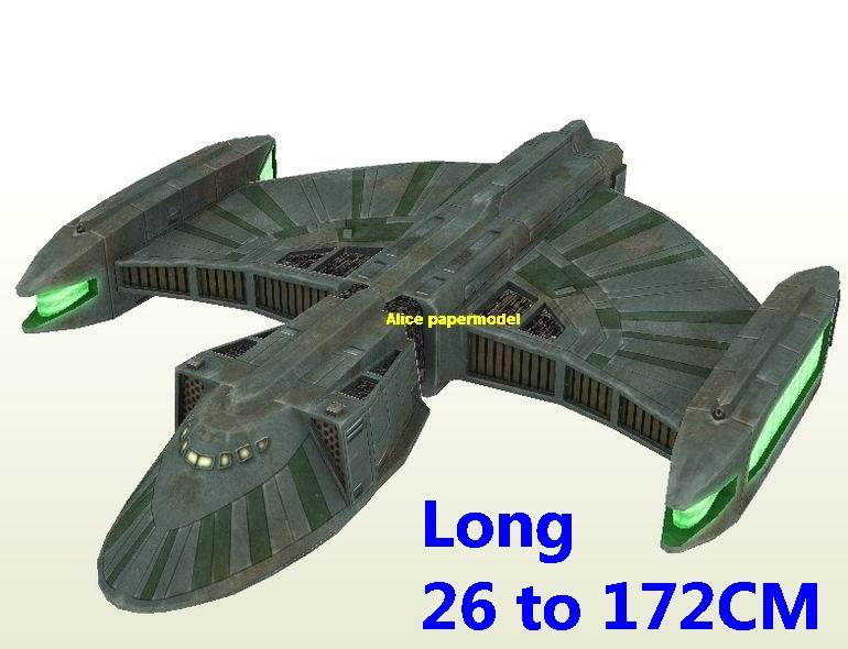 Startrek Romulan Talon USS NCC 1701 NCC1701 enterprise aircraft Star Trek starwar star war starship starcraft big large scale size universe cosmos alien spaceship fighter spacecraft space battleship cruiser station UFO Science fiction SCFI models model papercraft on for sale shop store