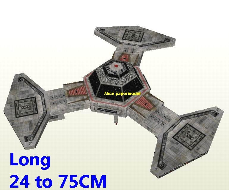 Starwar Empire Platform 6 cantina XQ6 jedi starfighter aircraft Startrek starwars star war starship starcraft big large scale size universe cosmos alien spaceship fighter spacecraft space battleship cruiser station UFO Science fiction SCFI models model papercraft on for sale shop store