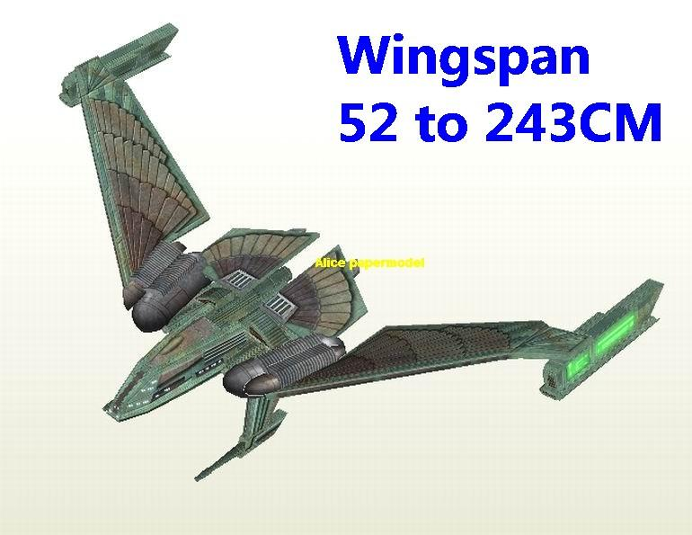 Startrek Romulan Winged Defender aircraft robot droid plane tank car Star Trek starwars starwar star war startrek starship starcraft homeworld big large scale size universe cosmos alien spaceship fighter spacecraft space battleship cruiser station UFO Science fiction SCFI models model papercraft for on sale shop store