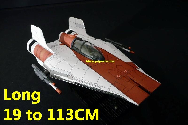 Starwar A-Wing A Wing Interceptor star destoryer fighter jedi starfighter aircraft Startrek starwars star war starship starcraft big large scale size universe cosmos alien spaceship fighter spacecraft space battleship cruiser station UFO Science fiction SCFI models model papercraft on for sale shop store