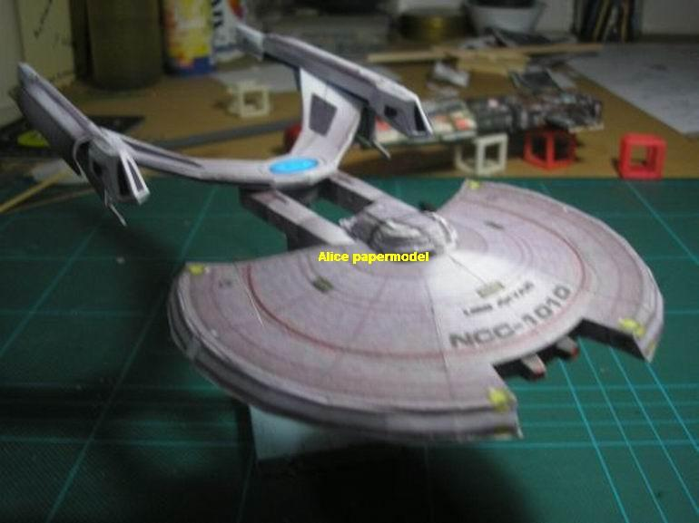 Startrek Akyazy Class damage USS NCC1701 NCC 1701 enterprise aircraft Star Trek starwar star war starship starcraft big large scale size universe cosmos alien spaceship fighter spacecraft space battleship cruiser station UFO Science fiction SCFI models model papercraft on for sale store shop