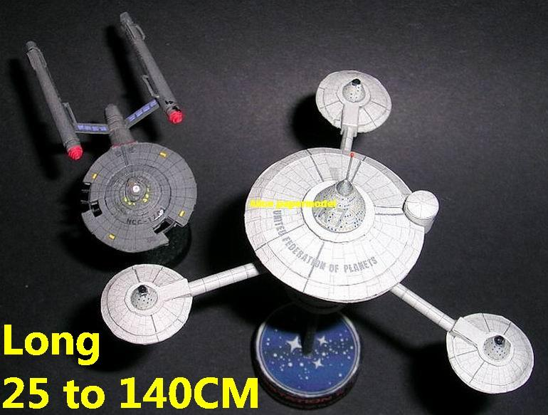 Startrek space station K-7 k7 USS NCC 1701 NCC1701 enterprise aircraft Star Trek starwar star war starship starcraft big large scale size universe cosmos alien spaceship fighter spacecraft space battleship cruiser station UFO Science fiction SCFI model models papercraft on for sale shop store