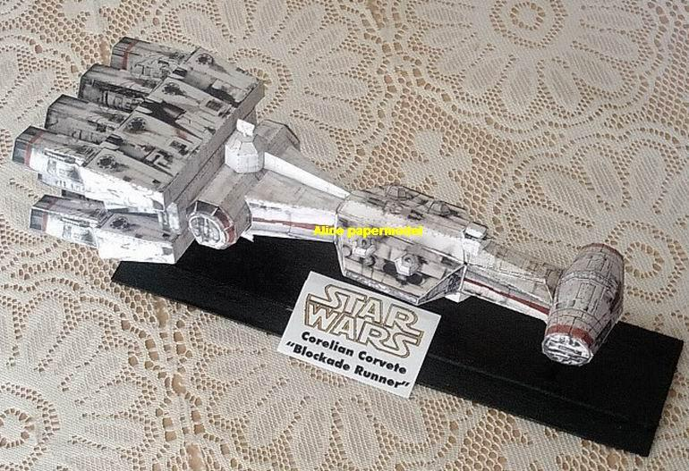 Starwar CR90 Corellian corvette Rebel blockade runner jedi starfighter aircraft Startrek starwars star war starship starcraft big large scale size universe cosmos alien spaceship fighter spacecraft space battleship cruiser station UFO Science fiction SCFI models model papercraft on for sale shop store