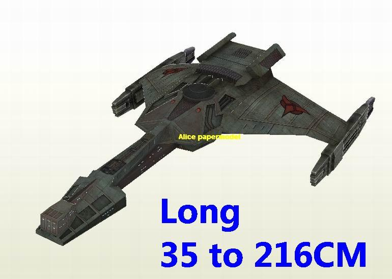 Startrek Klingon KK30 KK-30 USS NCC1701 NCC 1701 enterprise aircraft Star Trek starwar star war starship starcraft big large scale size universe cosmos alien spaceship fighter spacecraft space battleship cruiser station UFO Science fiction SCFI models model papercraft on for sale shop store