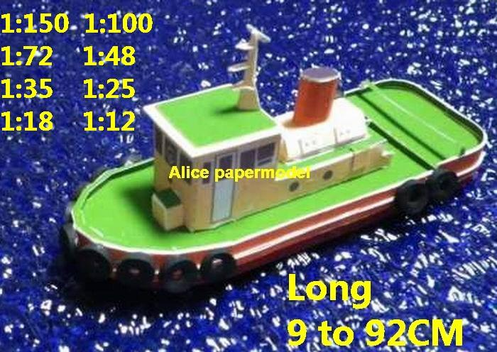 workboat tugboat big large scale size ship sailing boat model models cargo container tanker bulk freighter passenger liner cruise cruiser tugboat Ferry Sailboat papercraft Military army Soldiers Barbie doll model scene paper on for sale shop store