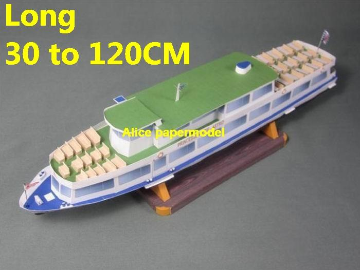 Inland river Ferry yacht work boat workboat tugboat big large scale size ship sailing boat model models cargo container tanker bulk freighter passenger liner cruise cruiser tugboat Ferry Sailboat papercraft Military army Soldiers Barbie doll model scene paper on for sale store shop