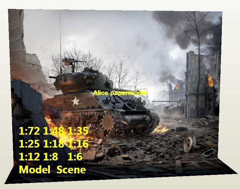 WWII US army M4A3 Sherman tank war zone ISIS Israel Terrorist attacks UN US army Marvel DC The Justice League Avengers Avenger HOT action figure HOTTOYS HT toy toys Construction Ruins parking garage warehouse lot area Barbie doll house Military Soldiers Fit for Miniature set car street model scene Dioramas diorama building Street Scenes Accessories Scenery background base models kit on for sale shop store