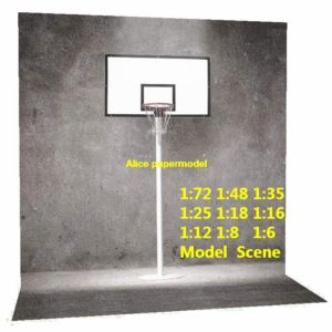 NBA gray wall street Basketball court Lebron Kobe star DC Marvel Justice League The Avengers Avenger HOT action figure HOTTOYS HT toy toys Construction Ruins parking garage warehouse lot area Barbie doll house Military Soldiers Fit for Miniature set car street model scene Dioramas diorama building Street Scenes Accessories Scenery background base models kit on for sale store shop