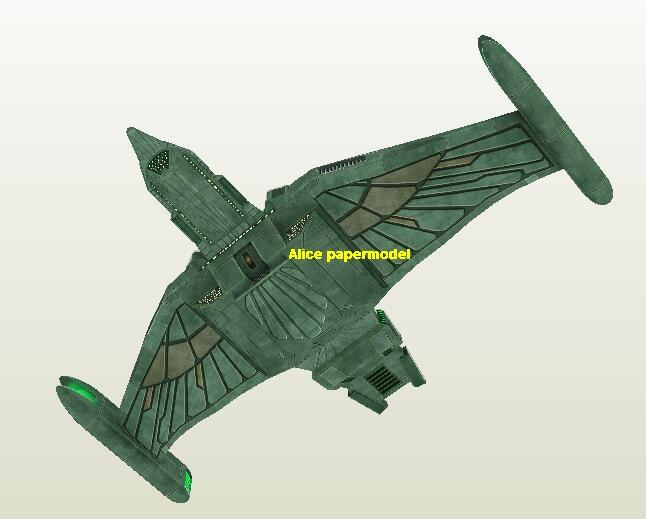 Startrek Romulan Heavy Defender USS NCC 1701 NCC1701 enterprise aircraft Star Trek starwar star war starship starcraft big large scale size universe cosmos alien spaceship fighter spacecraft space battleship cruiser station UFO Science fiction SCFI models model papercraft on for sale store shop