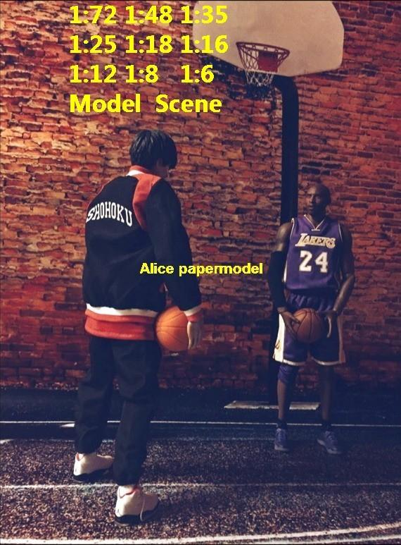 NBA brick wall street Basketball court Lebron Kobe star DC Marvel Justice League The Avengers Avenger HOT action figure HOTTOYS HT toy toys Construction Ruins parking garage warehouse lot area Barbie doll house Military Soldiers Fit for Miniature set car street model scene Dioramas diorama building Street Scenes Accessories Scenery background base models kit on for sale store shop