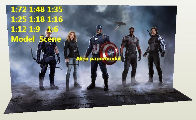 Captain America DC Marvel The Avengers Avenger Justice League HOT action figure HOTTOYS HT toy toys Construction Ruins parking garage warehouse lot area Barbie doll house Military Soldiers Fit for Miniature set car street model scene Dioramas diorama building Street Scenes Accessories Scenery background base models kit on for sale shop store