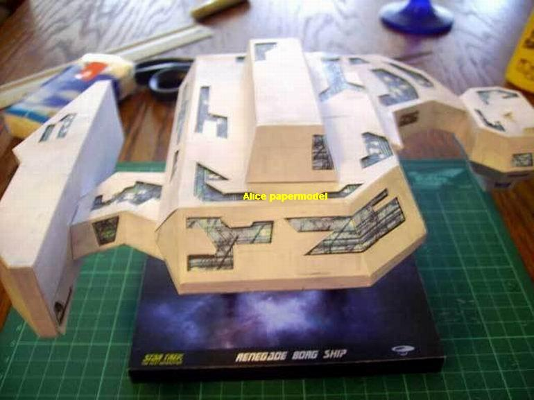 startrek Rogue Renegade Borg Ship USS NCC1701 NCC 1701 enterprise aircraft Star Trek starwars starwar star war starship starcraft big large scale size universe cosmos alien spaceship fighter spacecraft space battleship cruiser station UFO Science fiction SCFI models model papercraft on for sale shop store