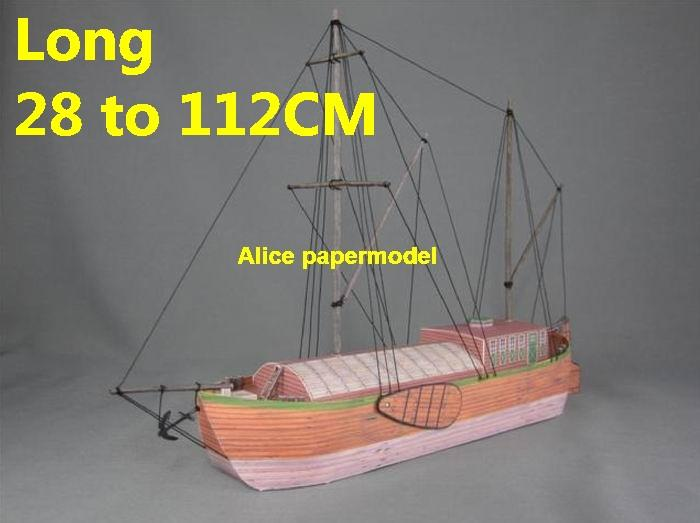 Sailship sailboat Inland cargo ship vessel tugboat workboat big large scale size ship sailing boat model models cargo container tanker bulk freighter passenger liner cruise cruiser tugboat Ferry Sailboat papercraft Military army Soldiers Barbie doll model scene paper on for sale store shop