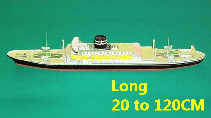 easy passenger liner Ship vessel tugboat workboat big large scale size ship sailing boat model models cargo container tanker bulk freighter cruise cruiser tugboat Ferry Sailboat papercraft Military army Soldiers Barbie doll model scene paper on for sale store shop