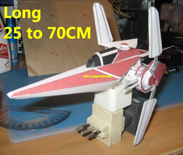 Starwar Ahora Alpha 3 V-wing V wing starfighter jedi aircraft Startrek starwars star war starship starcraft big large scale size universe cosmos alien spaceship fighter spacecraft space battleship cruiser station UFO Science fiction SCFI models model papercraft on for sale shop store