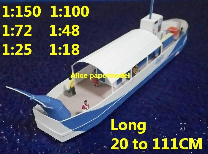 Sightseeing fishing ship fish boat big large scale size ship sailing boat model models cargo container tanker bulk freighter passenger liner cruise cruiser tugboat Ferry Sailboat papercraft Military army Soldiers Barbie doll model scene paper on for sale shop store