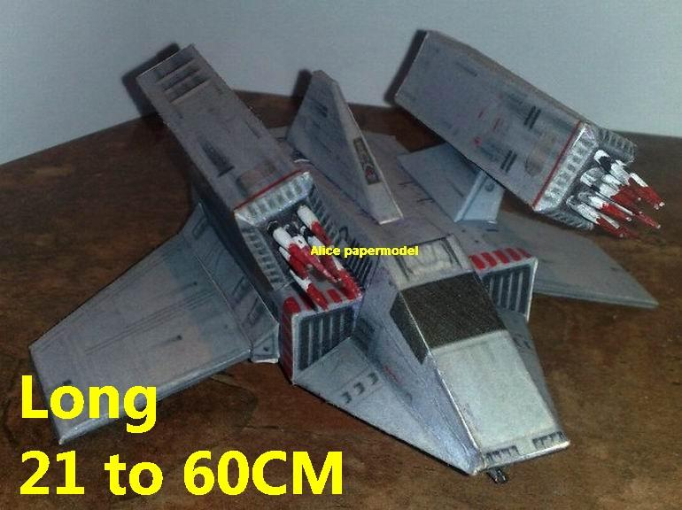 Starwar advanced Imperial Missile Boat fighter jedi starfighter aircraft Startrek starwars star war starship starcraft big large scale size universe cosmos alien spaceship fighter spacecraft space battleship cruiser station UFO Science fiction SCFI model models papercraft on for sale shop store