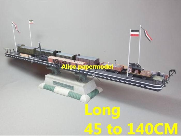 locomotive train ferry ferries vessel tugboat workboat big large scale size ship sailing boat model models cargo container tanker bulk freighter passenger liner cruise cruiser tugboat Ferry Sailboat papercraft Military army Soldiers Barbie doll model scene paper on for sale shop store