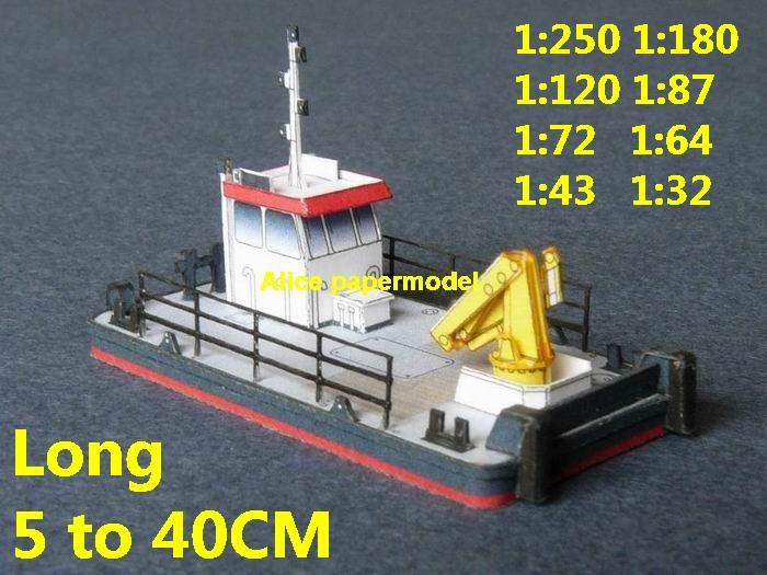 crane engineering work workboat harbor patrol bulk freighter vessel ship big large scale size ship sailing boat models model passenger liner cruise cargo container tanker cruiser tugboat Sailboat Ferry papercraft Military army Soldiers Barbie doll model scene paper on for sale store shop